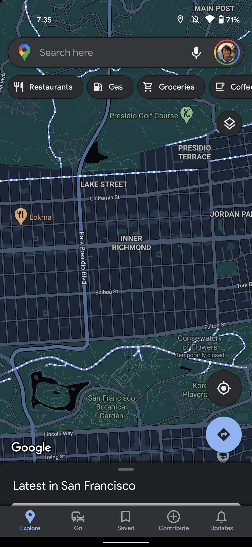 Google Maps modo escuro