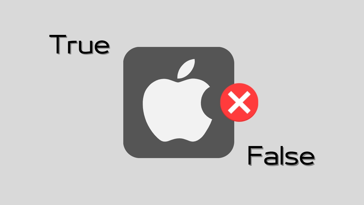 iCloud Apple True and false
