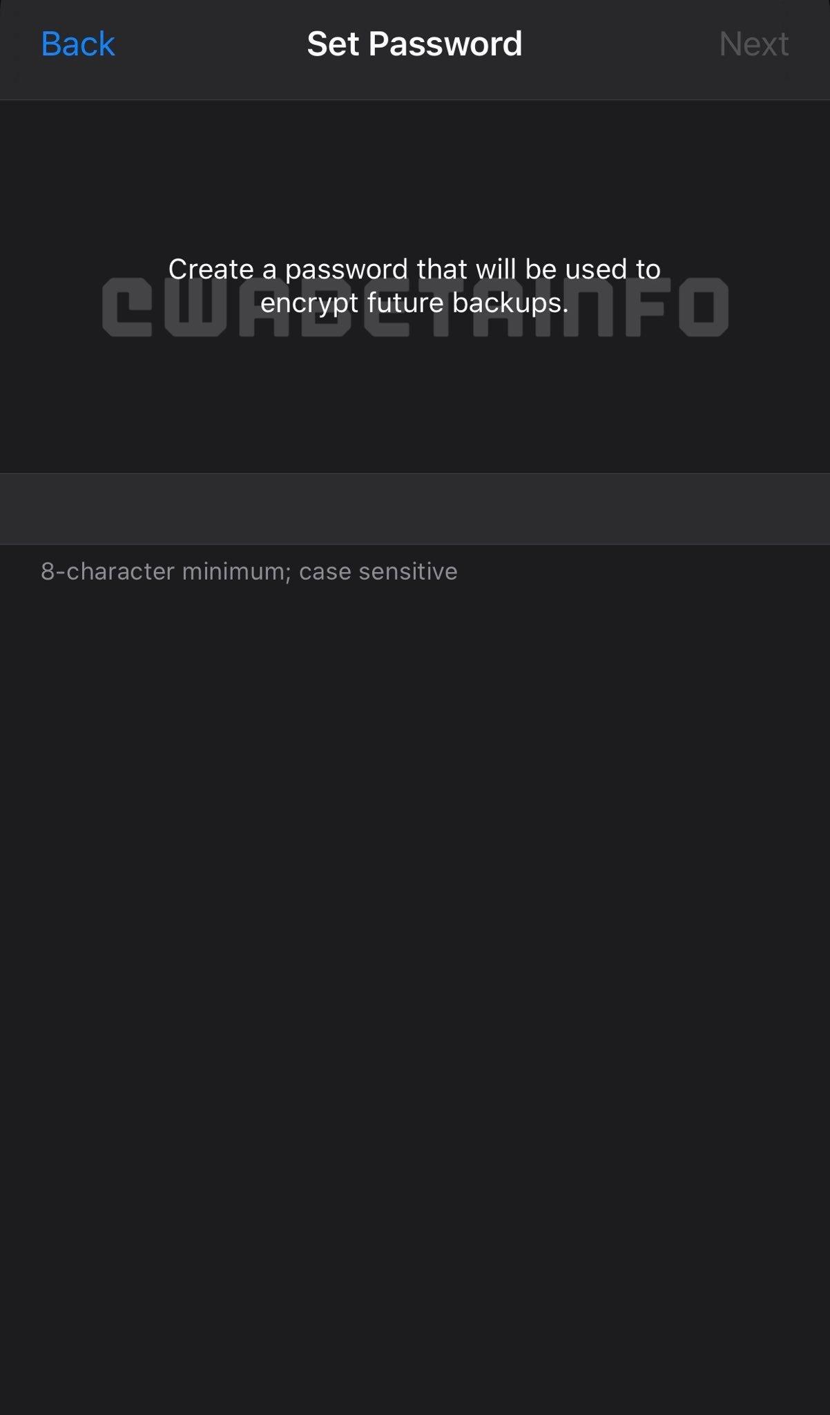encriptação de backups