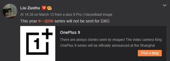 fonte pete lau OnePlus 9 teste câmara
