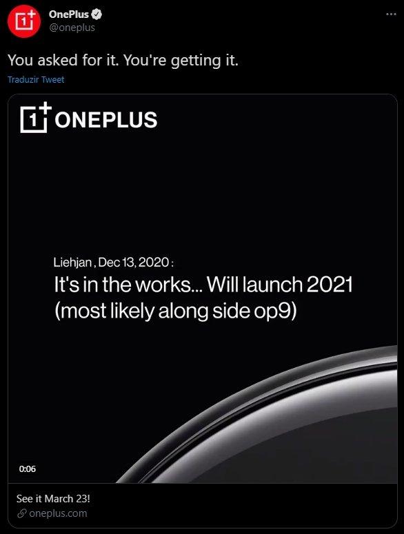 OnePlus watch twitter