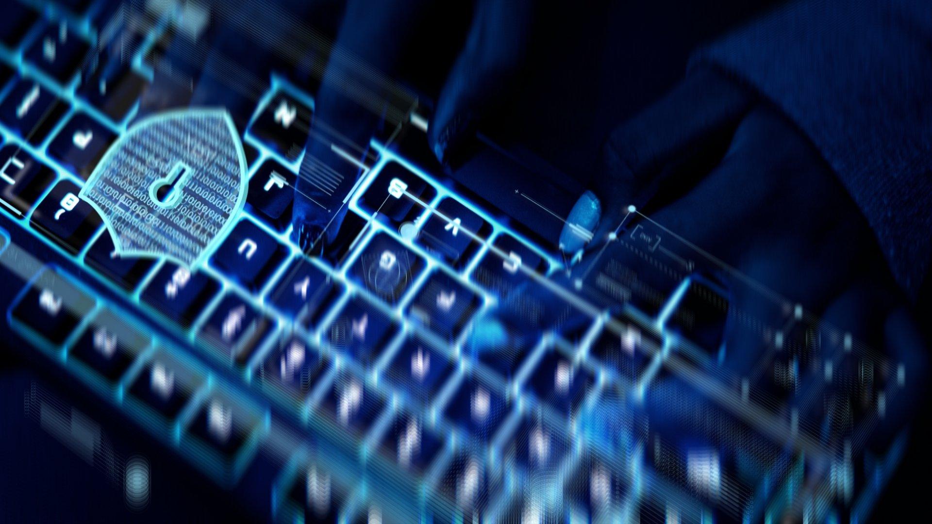 teclado e segurança em licenças