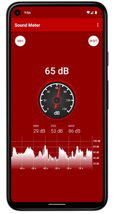 medição do ruído ambiente app