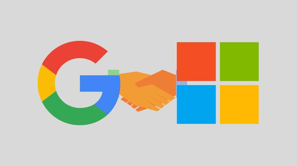 Microsoft e Google unidas em acordo