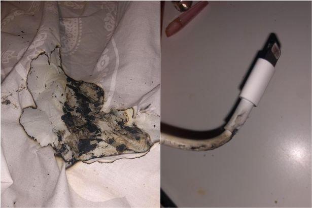 carregador queimado iPhone