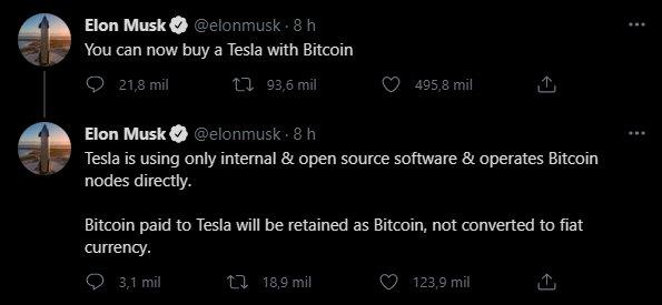 elon musk pagamentos em bitcoin
