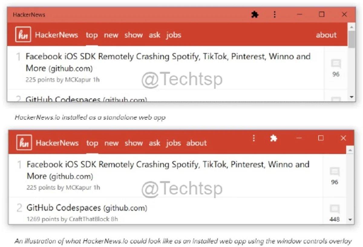 Microsoft exemplo de novos menus