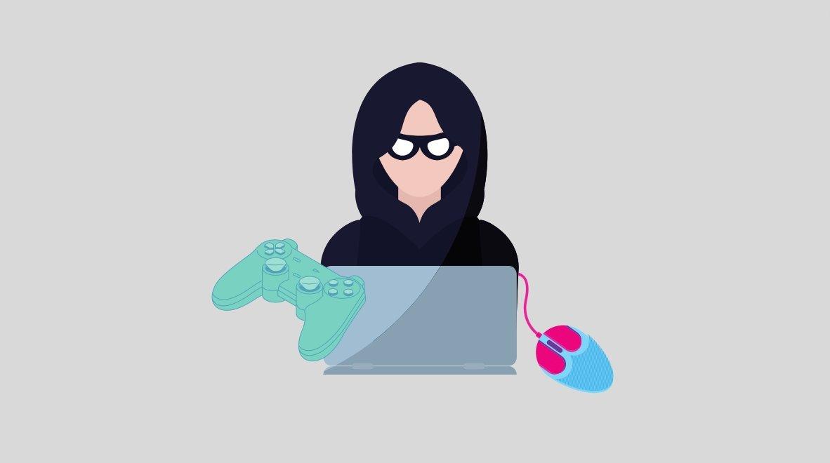 Gaming malware hacker