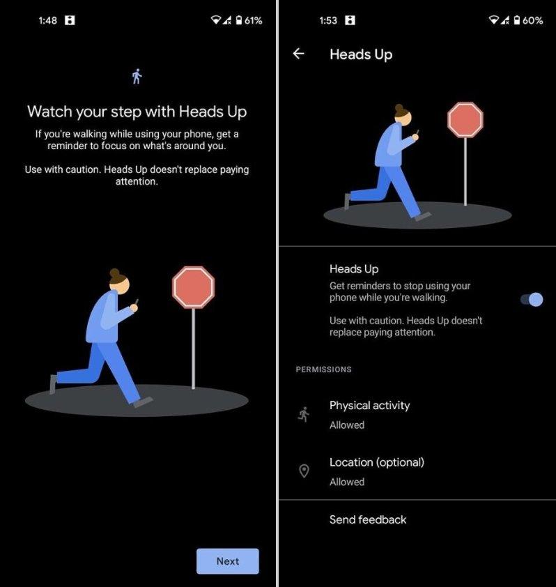 sistema alerta Android caminhar uso smartphone