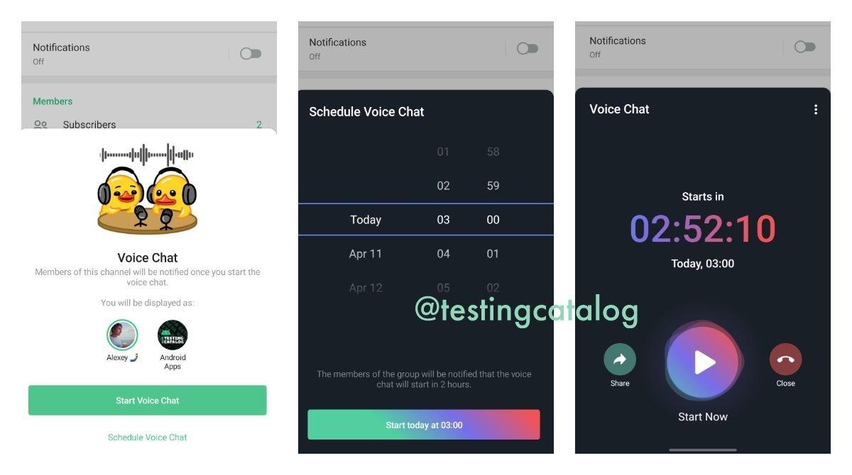 telegram teste voice chat