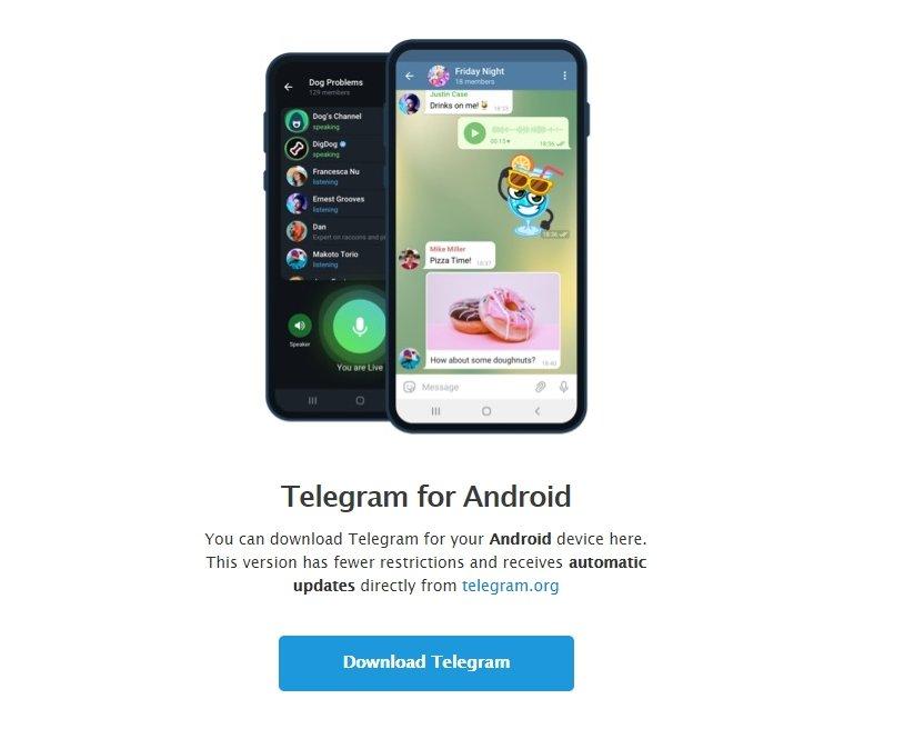 Telegram para Android fora da play store