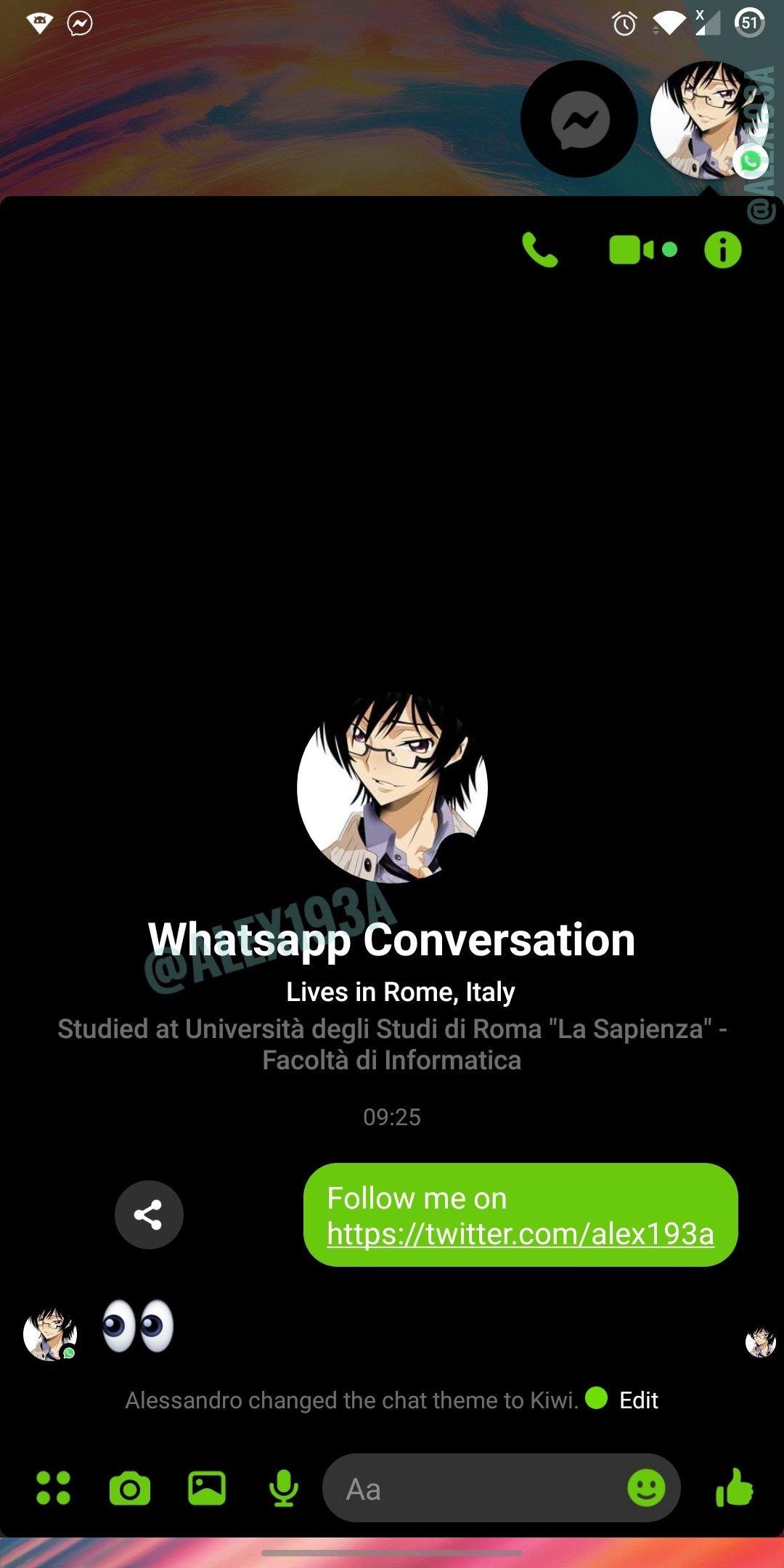 funcionamento das mensagens no whatsapp pelo messenger