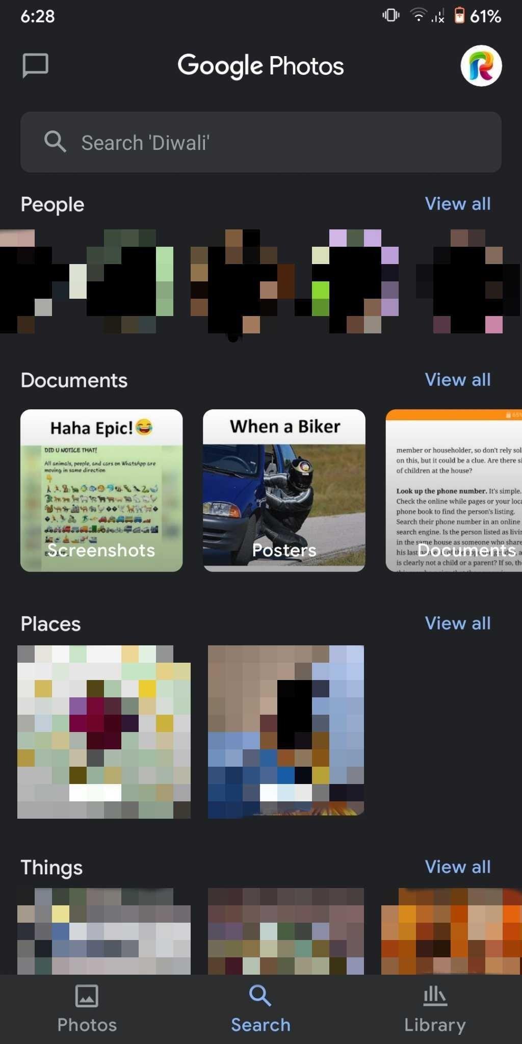 imagem da funcionalidade do google fotos em documentos