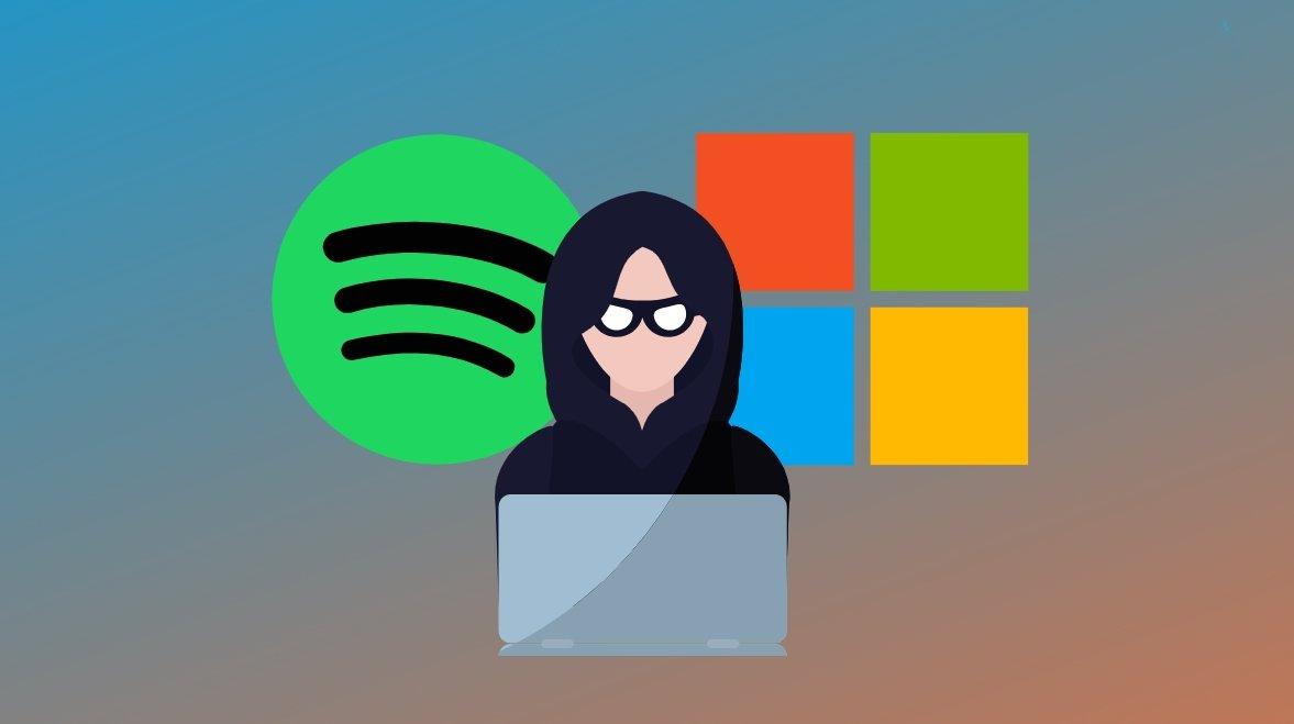 Malware em spotify e Microsoft