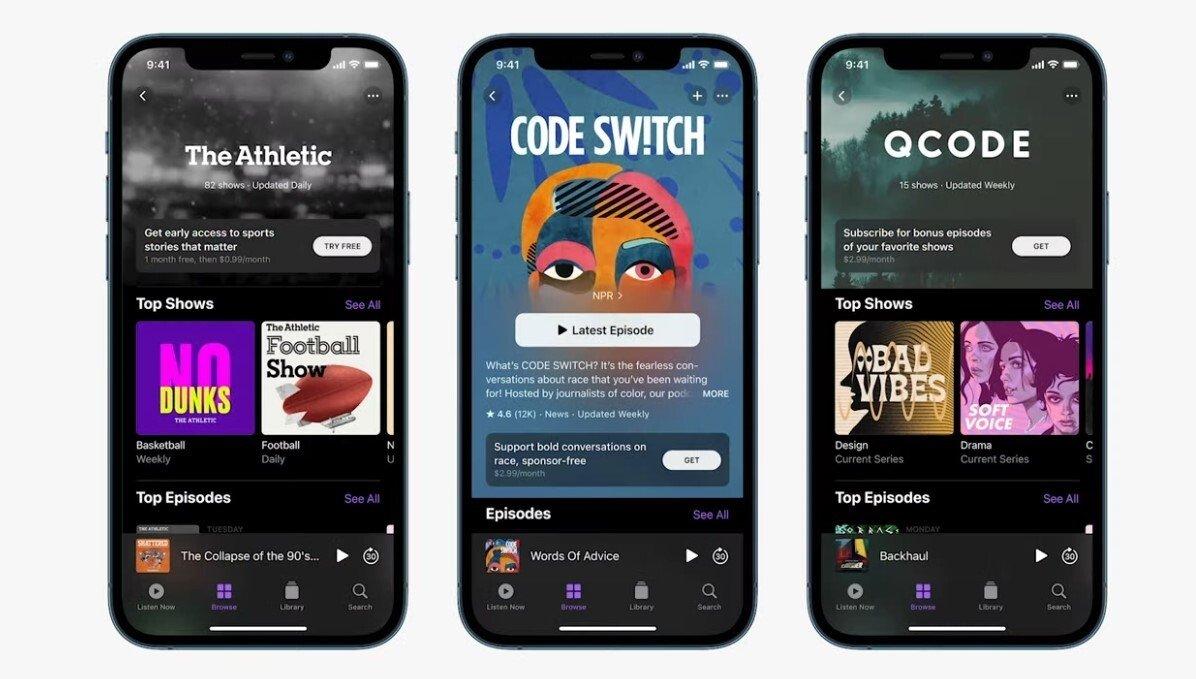 Podcasts da Apple