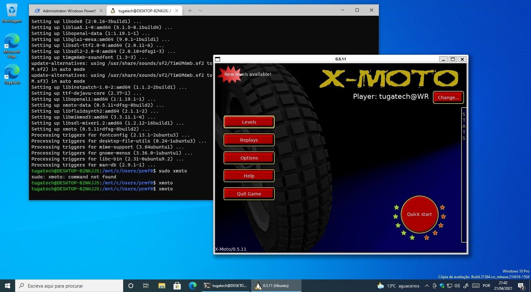 xmoto no windows 10