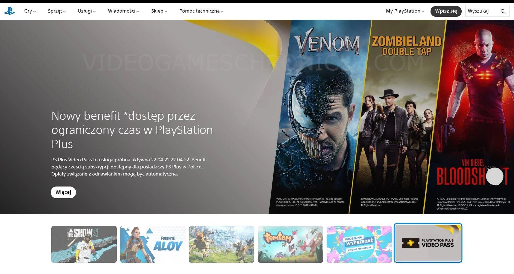 indicação no site da Sony PlayStation Polónia