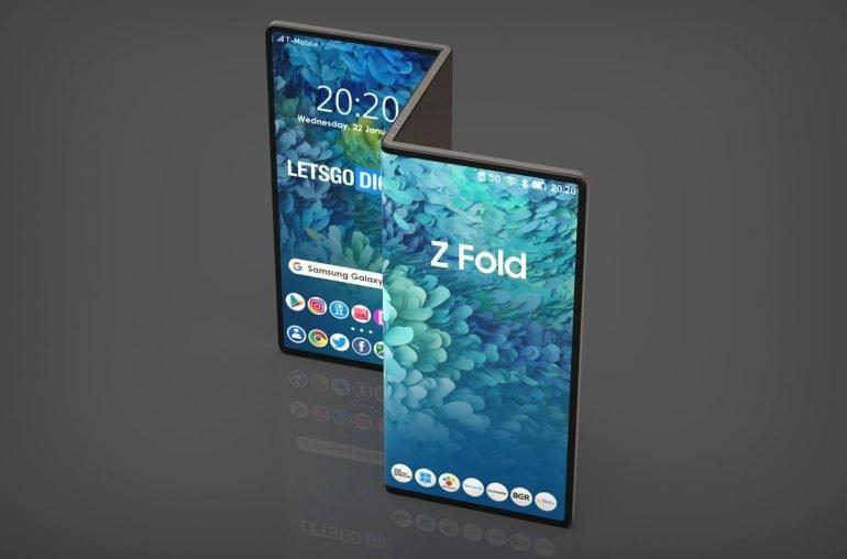 imagem possível dispositivo da samsung galaxy z fold tab