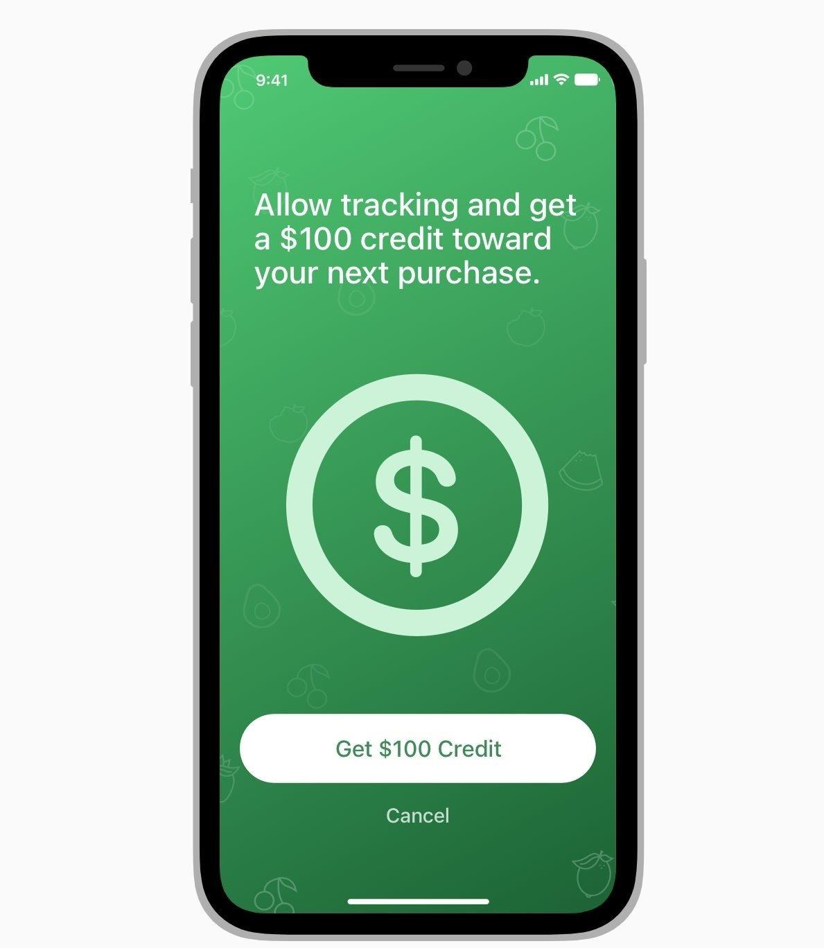apple iPhone com incentivo para recolha de dados