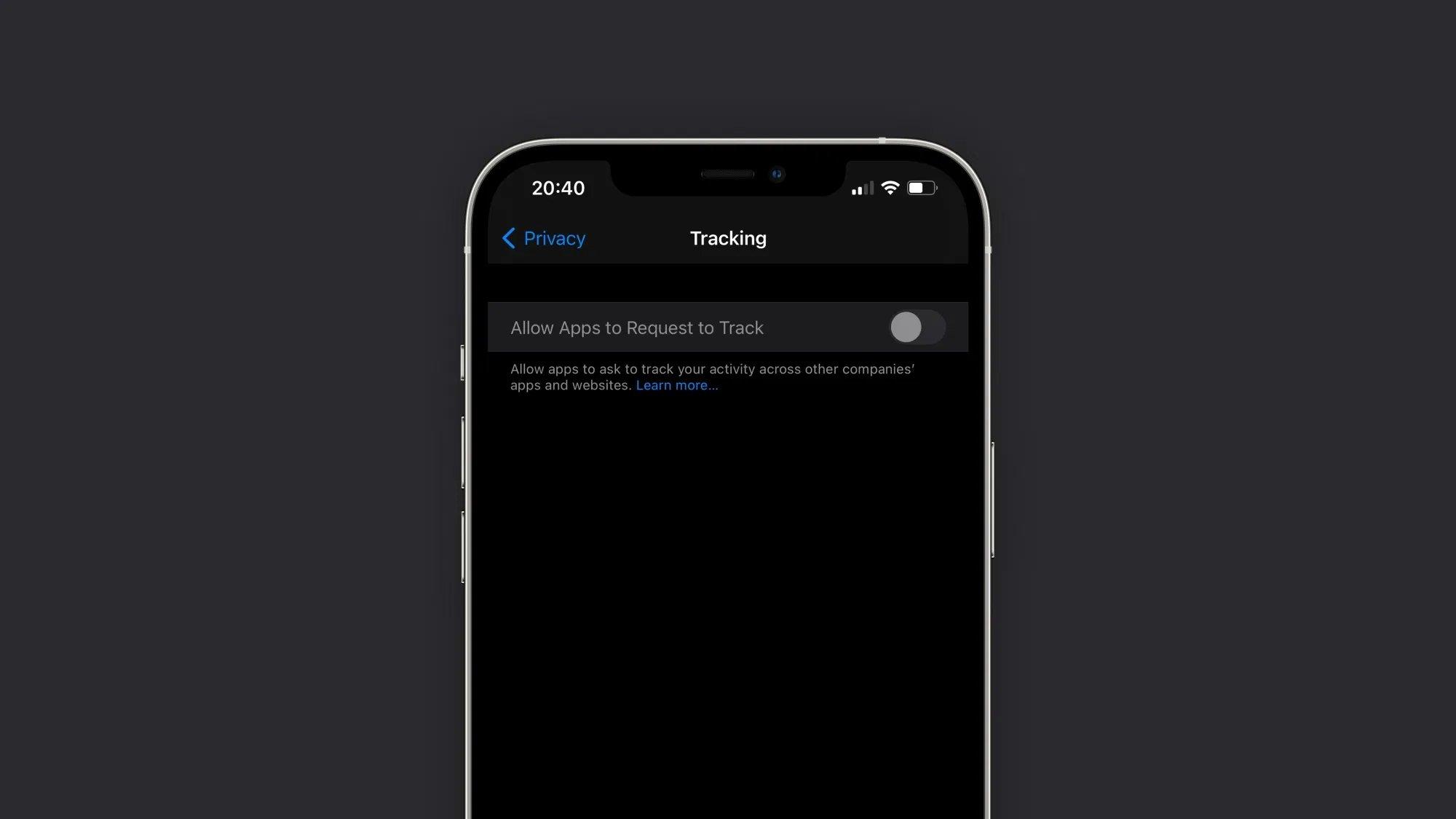 funcionalidade bloqueada do iOS 14.5