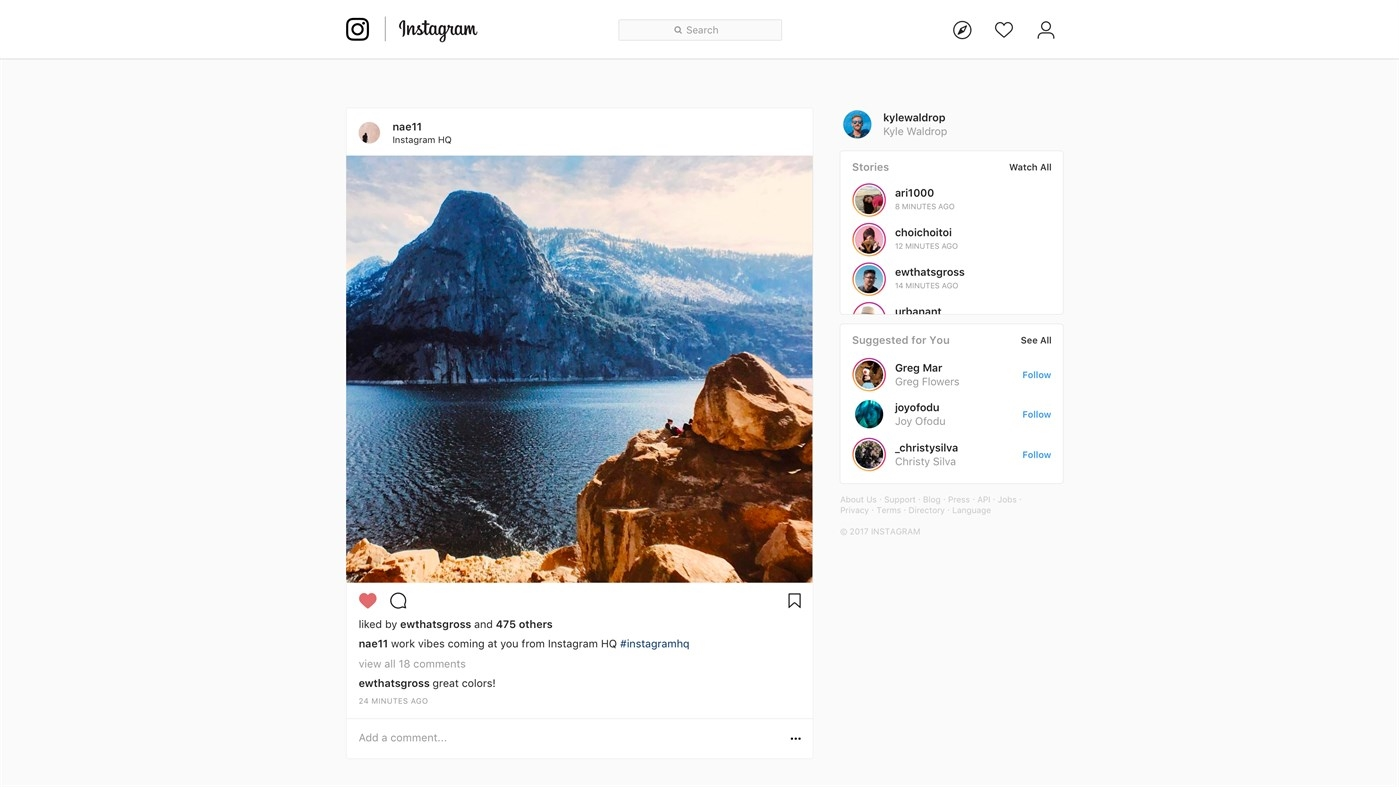 Instagram no Windows