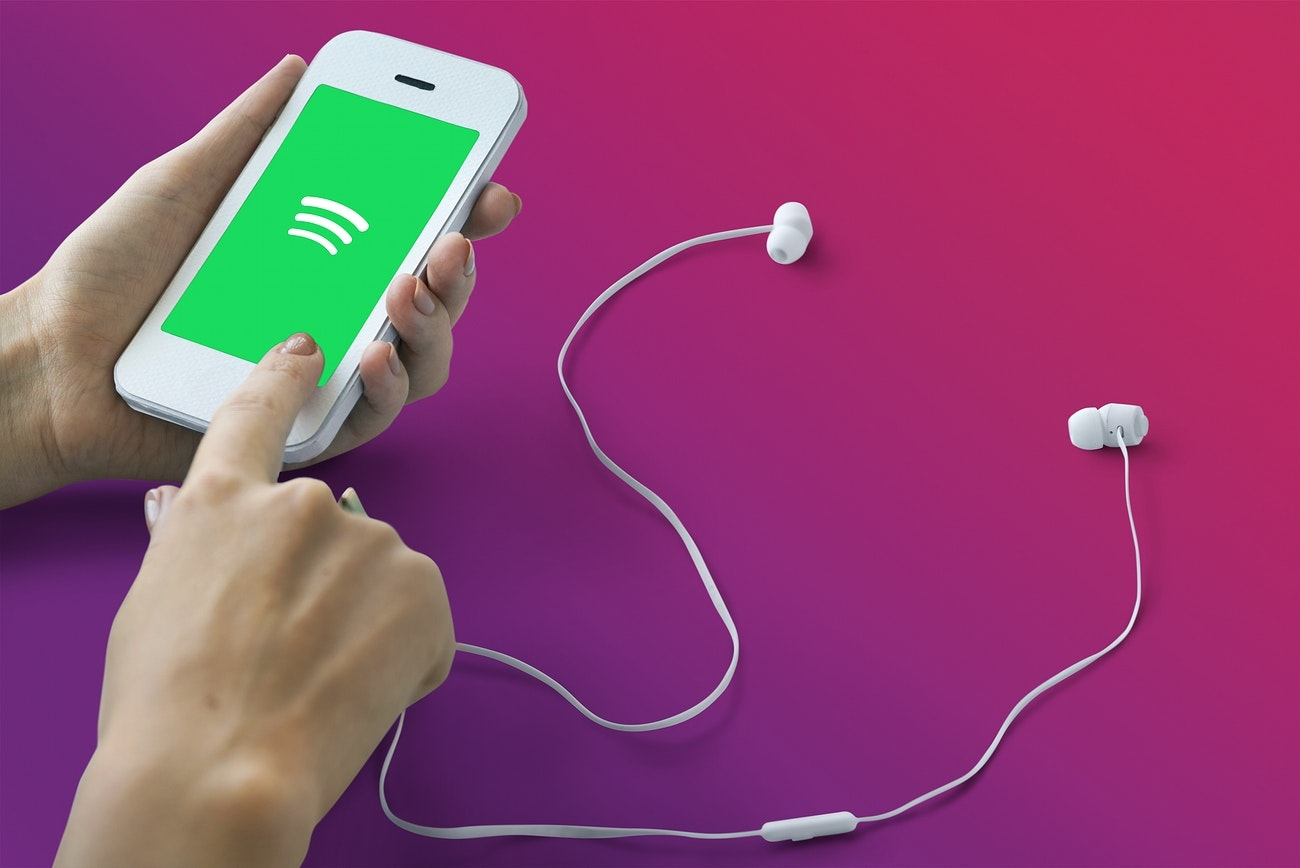Spotify app em reprodução