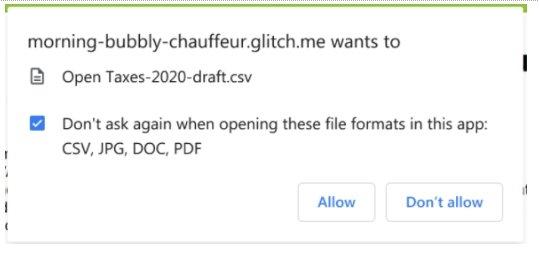 abrir ficheiros nativos em PWA