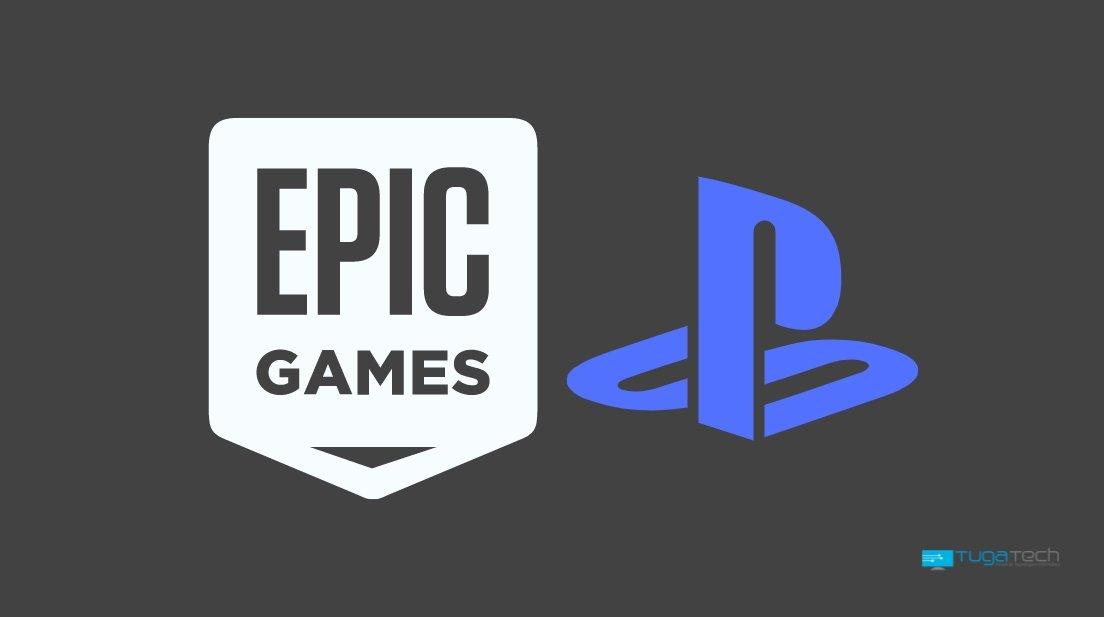 Epic Games e PlayStation logos