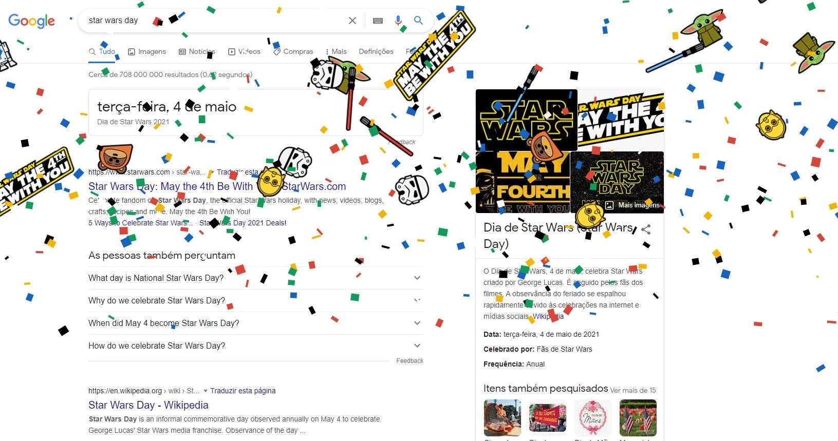 Google easter egg dia de star wars
