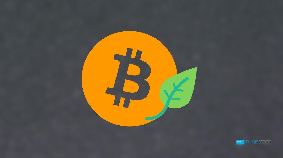 Bitcoin verde amigo do ambiente