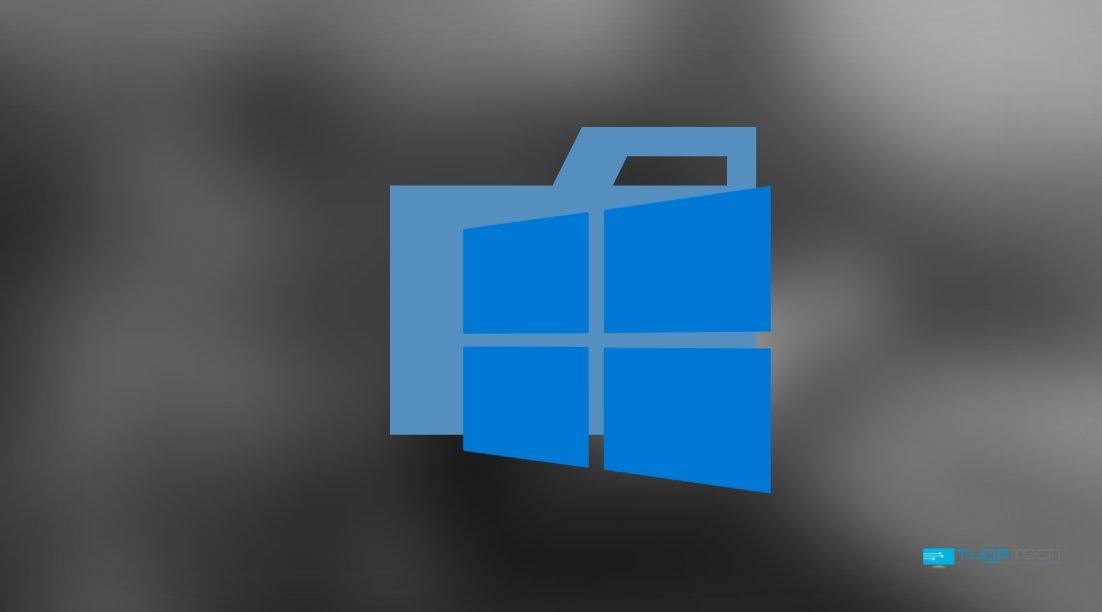 Windows logo sobre pasta