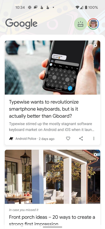 novo design do google discover