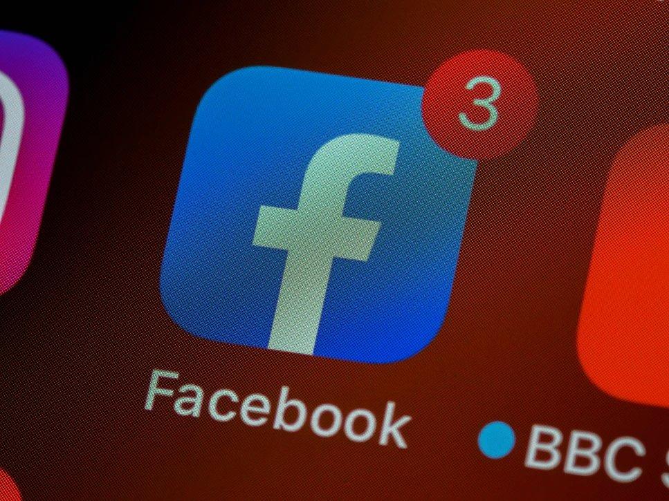 Facebook rede social com ícone da app
