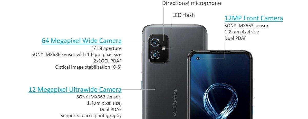 cameras ZenFone 8