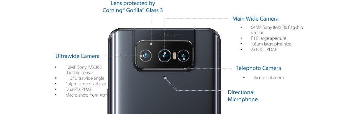 ZenFone 8 flip cameras