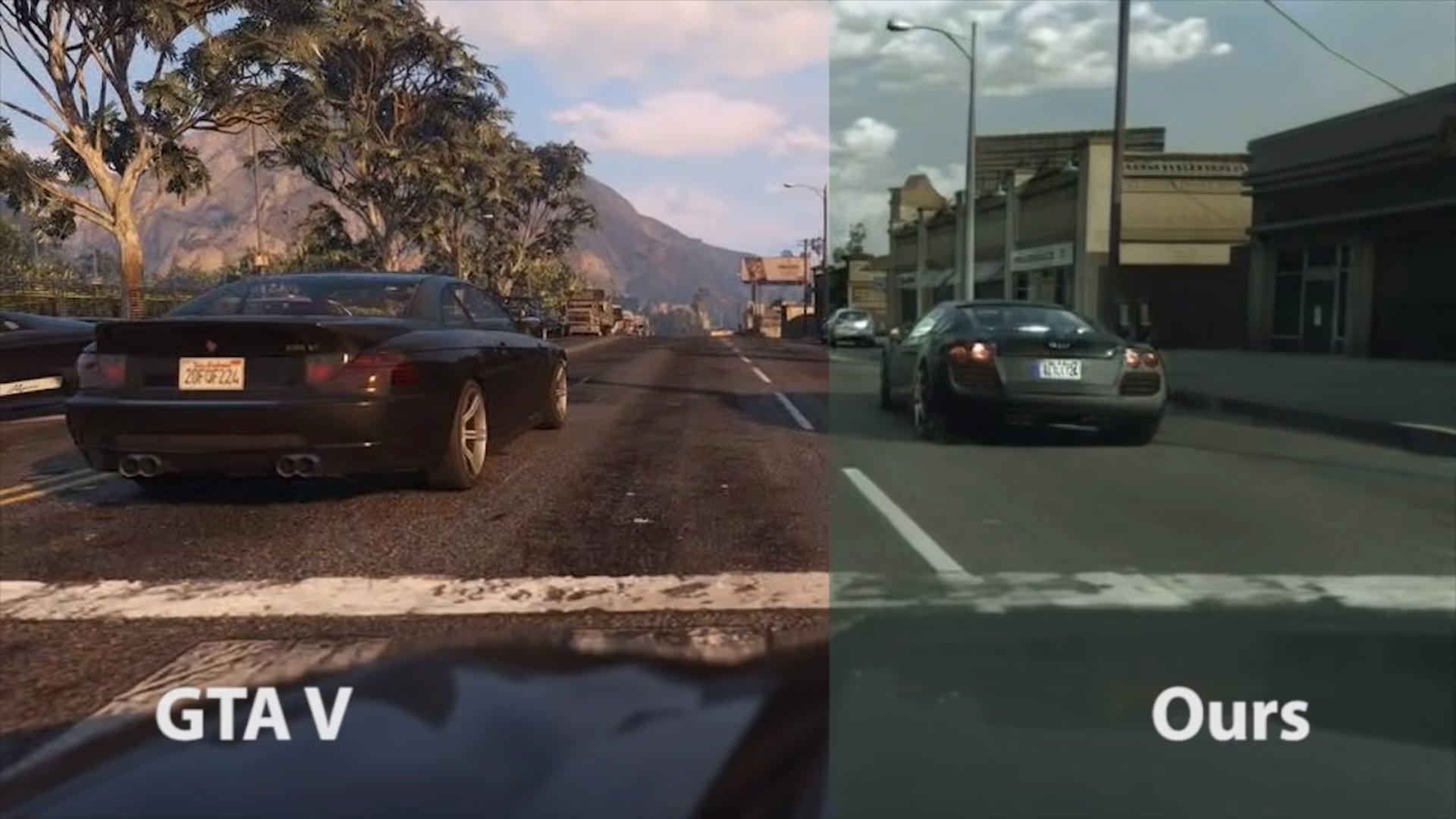 GTA vs Foto Realista