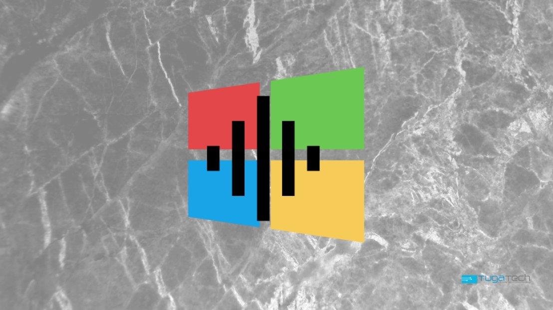 Windows 10 ruído de fundo branco