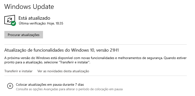 windows update 21h1