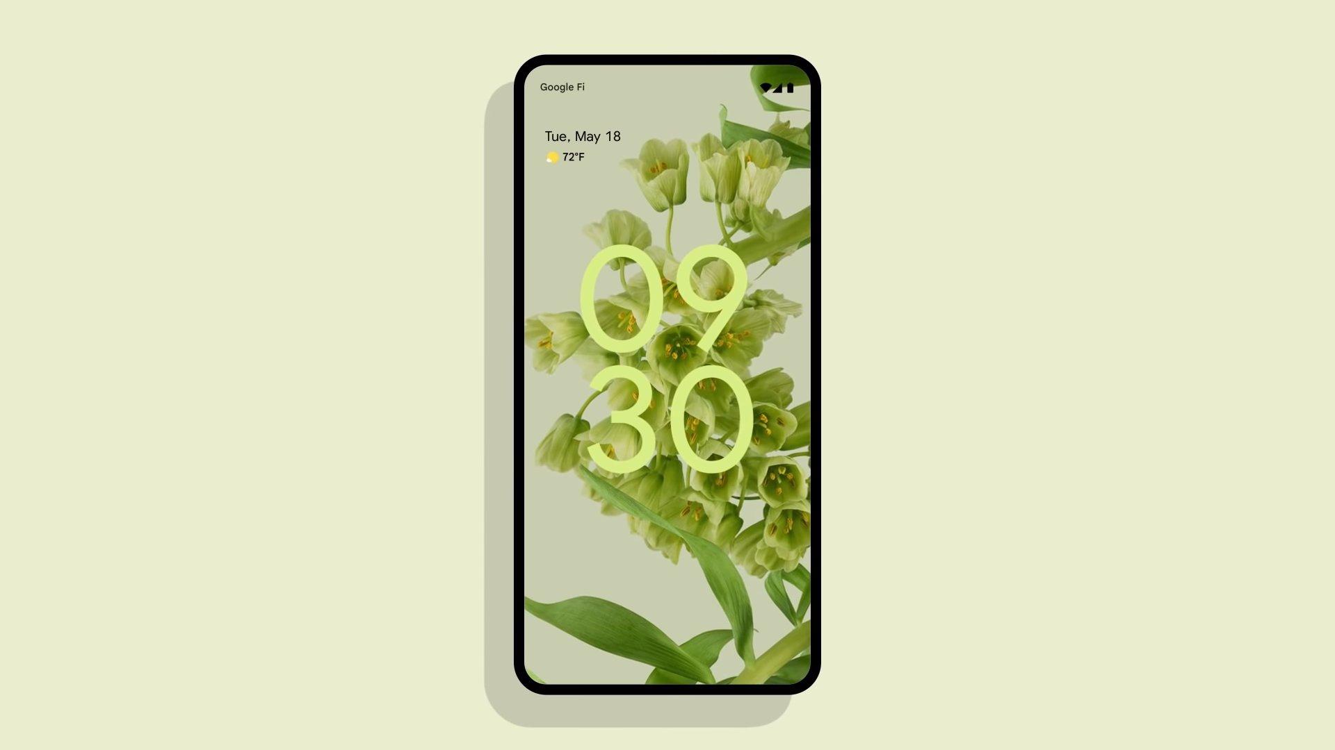novo material you do Android