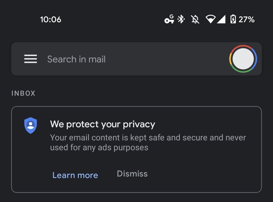 exemplo de banner privacidade google