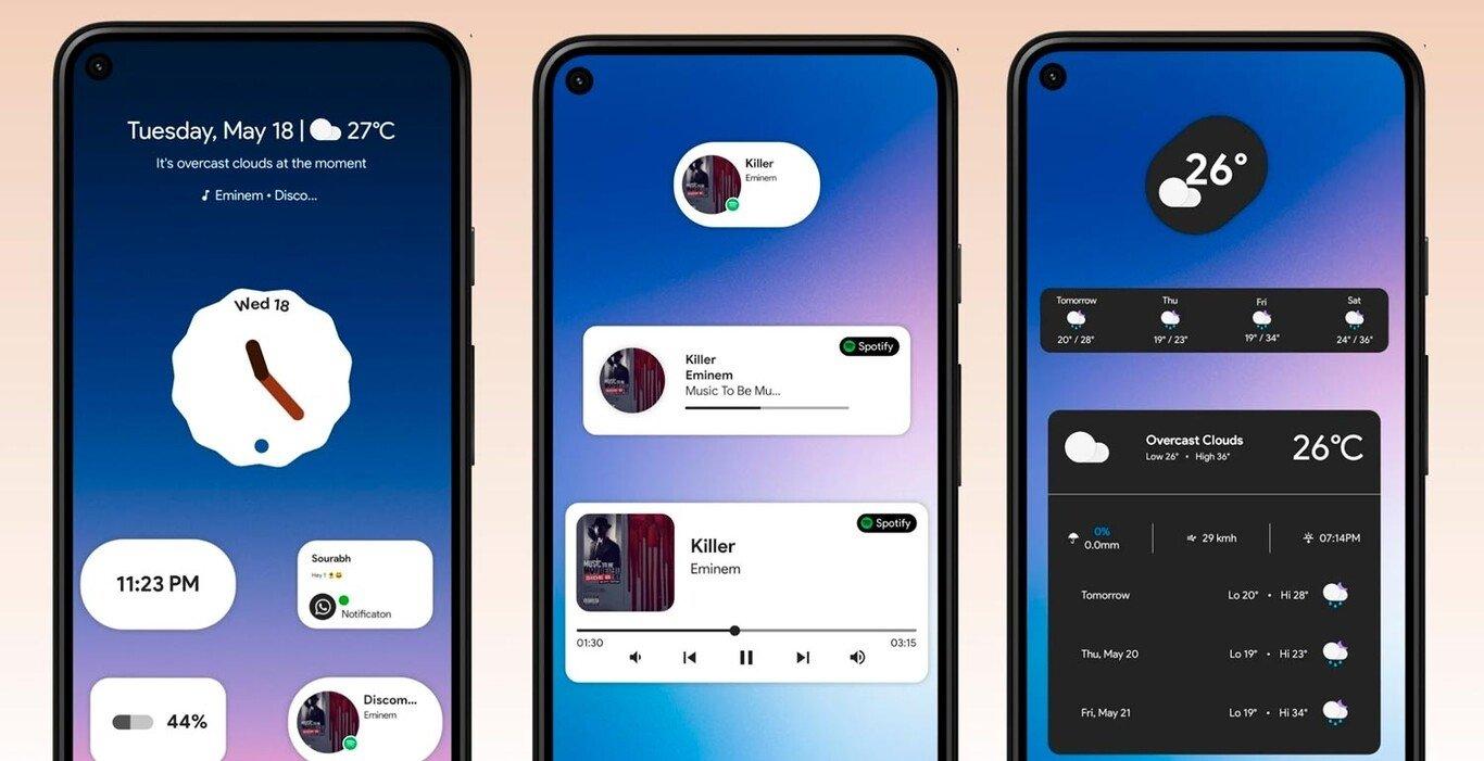Pacote de widgets para android