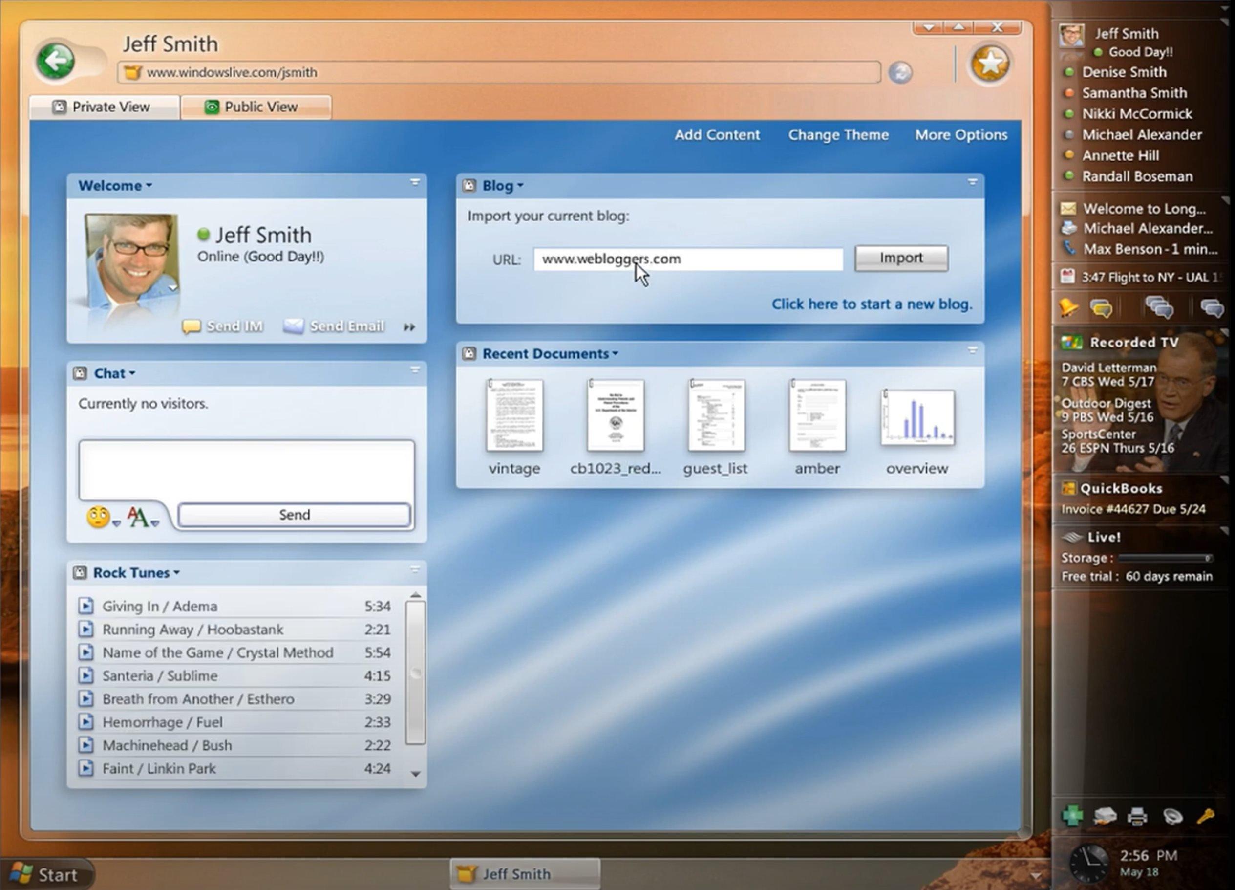 Windows longhorn rede social