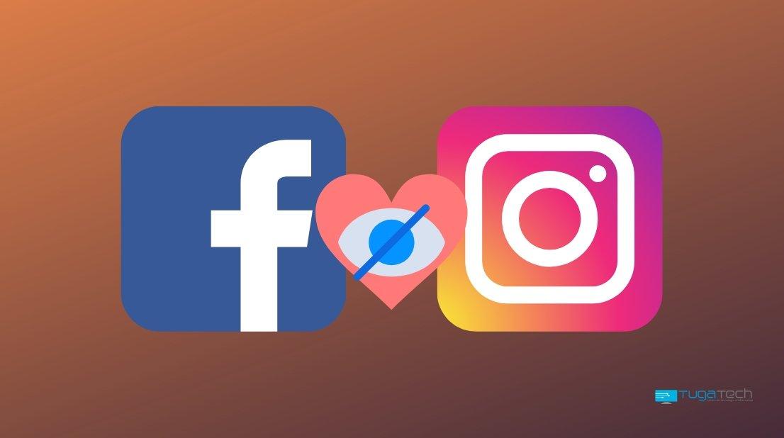Facebook e instagram em ocultar gostos
