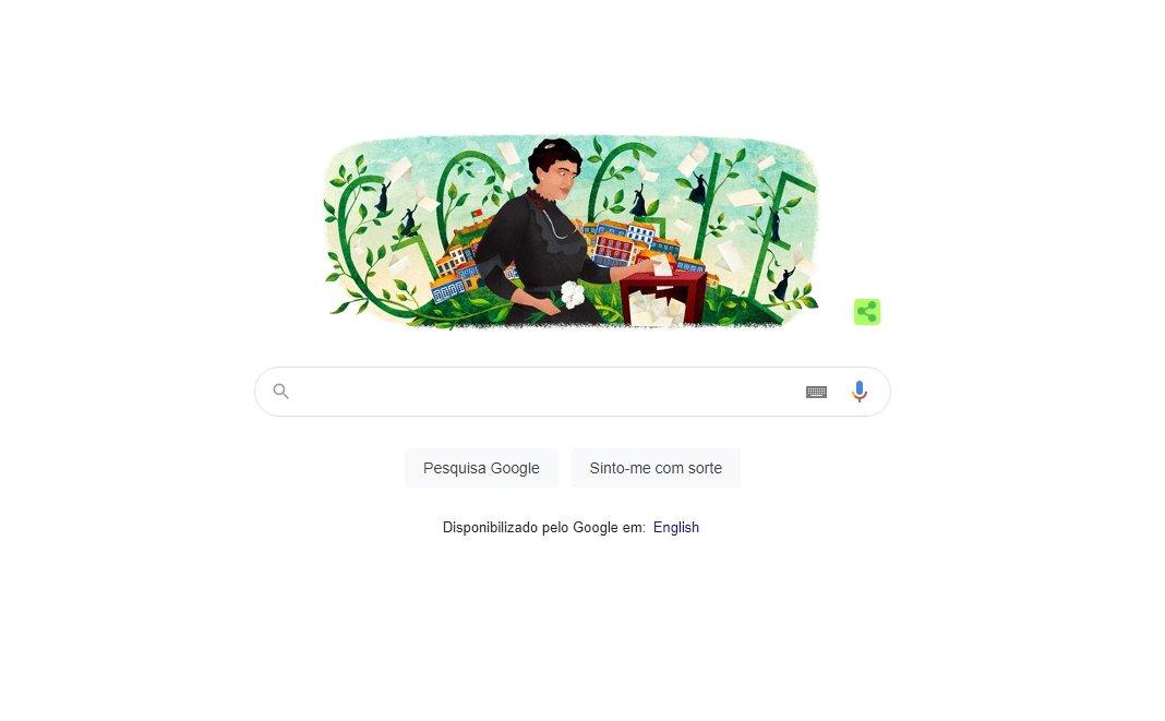 Google celebração Carolina Beatriz Ângelo