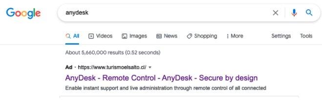 exemplo de site falso