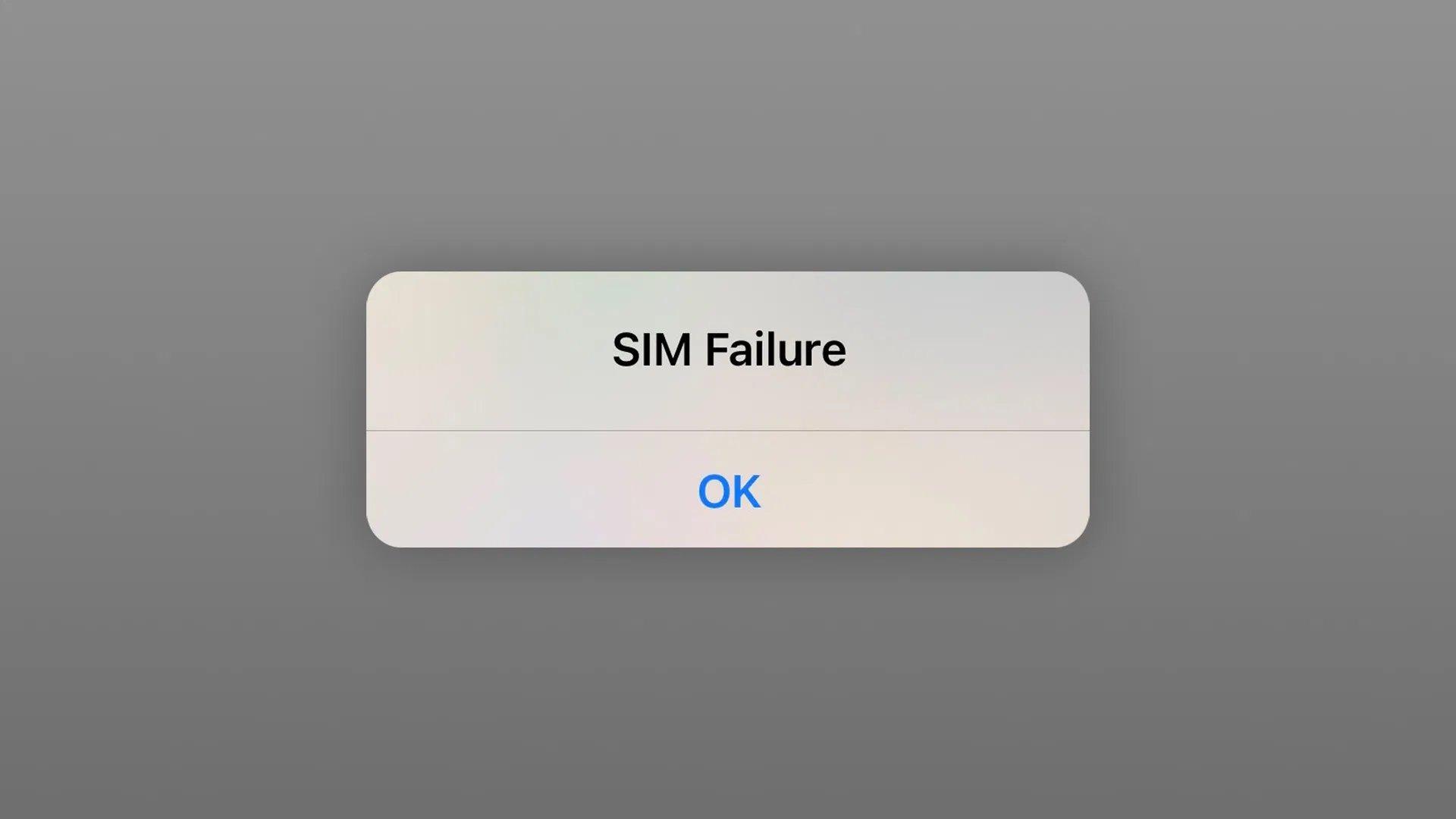SIM Failure
