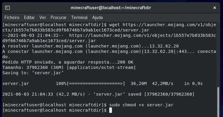 download do servidor minecraft