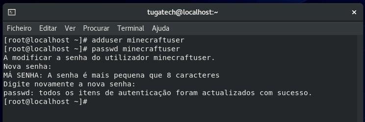 adicionar utilizador server