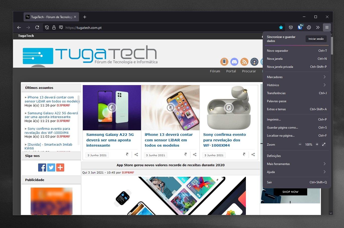 Firefox 89 novo design