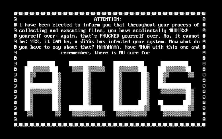 mensagem do AIDS